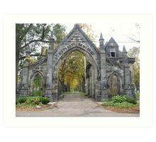 Gothic Gates of Monroe Cemetery  Art Print
