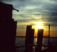 Sunset at Battery Park, NYC by Alberto  DeJesus