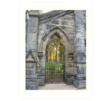 Monroe Cemetery Gates Art Print