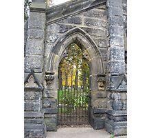Monroe Cemetery Gates Photographic Print