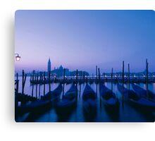 Evening gondolas Canvas Print