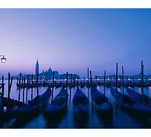 Evening gondolas Photographic Print