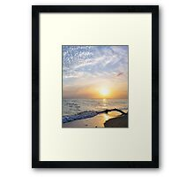 South Sound Sunset Study Framed Print