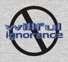 Ban Willful Ignorance (blue) Kids Tee