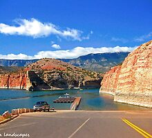 Bighorn canyon boat launch by Erika Price