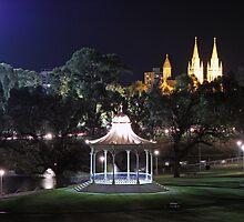 Elder Park at night by Sean Mullarkey