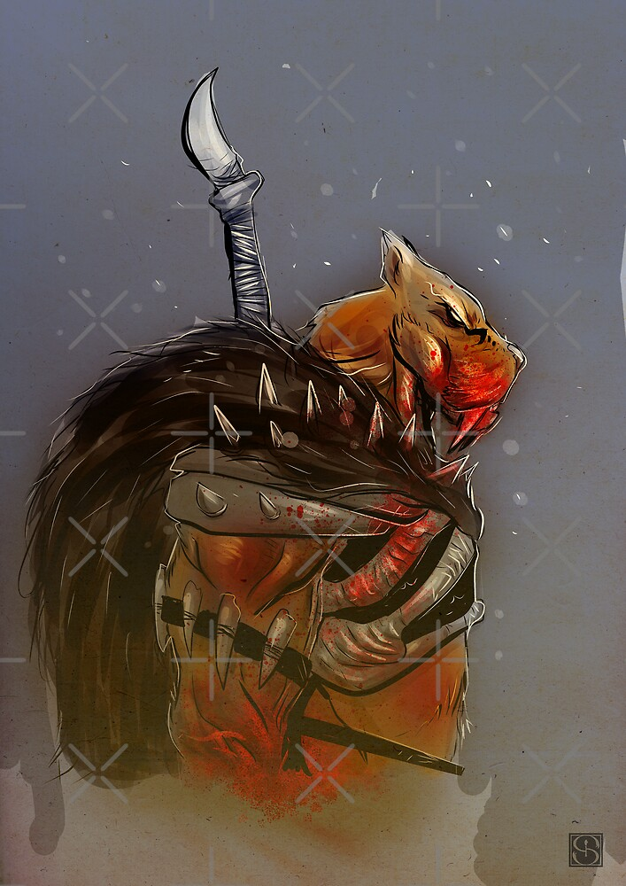 Smilodon Hunter by Simon Sherry