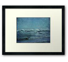 Wild Blue - High Surf - Outer Banks Framed Print