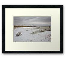 Snow or Salt? Framed Print