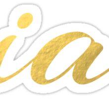 Ciao Faux Gold Foil Sticker
