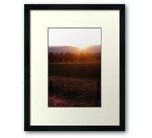 Farmland Sundown Framed Print