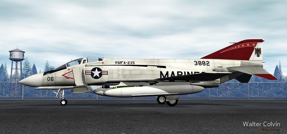 F-4J Phantom (VMFA-235 Death Angels) by Walter Colvin