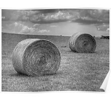 The Hay Bales Poster