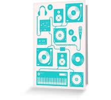 Four To The Floor - Teal Greeting Card