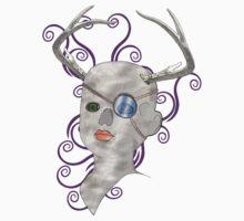 stag doll skull by IanByfordArt