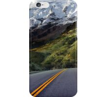 Highway Snow-Capped Mountain iPhone Case/Skin