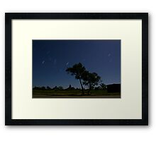 Glasshouse Mountains Startrails Framed Print