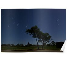 Glasshouse Mountains Startrails Poster