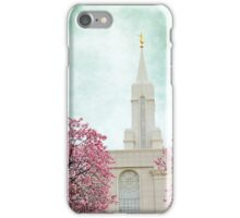 Bountiful, LDS Temple, Spring iPhone Case/Skin