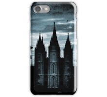 Salt Lake Temple, Dark Texture iPhone Case/Skin