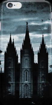 Salt Lake Temple, Dark Texture by Ryan Houston