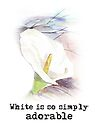 White is so simply ... by Maree  Clarkson