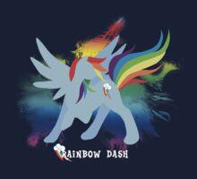 Rainbow Dash Silhoutette Baby Tee