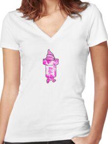 BadYoshi 2tone (alt) Women's Fitted V-Neck T-Shirt