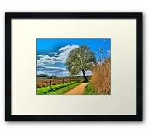 A Picture Book Countryside Scene   Framed Print