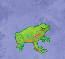 Green Tree Frog by evisionarts