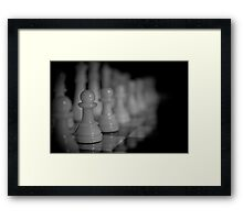 Who will move first? Framed Print