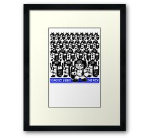To Protect & Serve... Framed Print