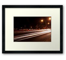 Night-time streetscape Framed Print
