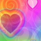 rainbow heart and spiral by tabbygun