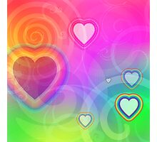 rainbow heart and spiral Photographic Print
