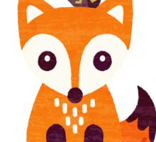 Little Fox with Autumn Berries Sticker