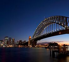 Sydney Harbour Bridge Panorama by Maxwell Campbell