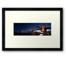Sydney Harbour Bridge Panorama Framed Print