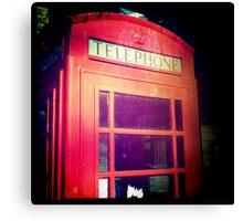 Cambridge Collection: Phone Box Canvas Print