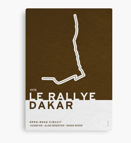 Legendary Races - 1978 Le rallye Dakar Canvas Print
