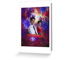 Justin Trudeau Galaxy Greeting Card