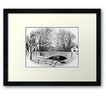 The old bridge at West Dean Framed Print