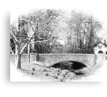 The old bridge at West Dean Canvas Print