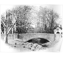 The old bridge at West Dean Poster