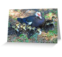 Now thats what i call a big family! Greeting Card