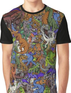 Chibi Dinosaurs Graphic T-Shirt