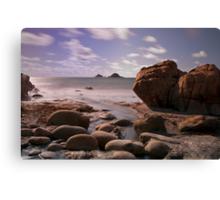 Porth Nanven beach Canvas Print