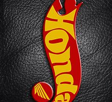 Honda motorcycle hot wheels on Leather by Benjamin Whealing