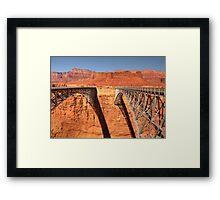 Navajo Bridge - 2 - Crossing Over  © Framed Print