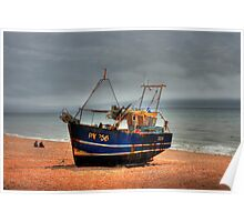 Hastings fishing boat Poster